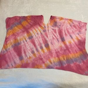 Cotton Tie Dyed Bathing Suit Cover Up